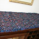 Multi Color Blue Red Purple Print Table Runner Modern Design Sm -- EB1