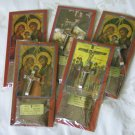 5 Set Holy Land Souvenir Olive Wood Cross Crucifix + Packet of Holy Earth