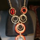 Rusty Red  Circle Necklace