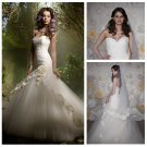 Ivory Tulle and Lace Short Train Mermaid Wedding Dress