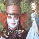 "Johnny Depp/Mia Wasikowska ""Alice In Wonderland"" Autographed Original Hand Signed 8X10 Photo"