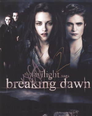 Twilight Breaking Dawn Robert Pattinson & Kristen Stewart Autograph Original Hand Signed 8X10 Photo