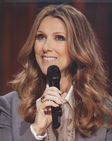 Celine Dion Autographed Original Hand Signed 8x10 Photo