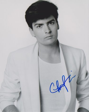 Charlie Sheen Autographed Original Hand Signed 8x10 Young Photo