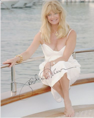 Goldie Hawn Original Hand Signed 8x10 Autographed Photo