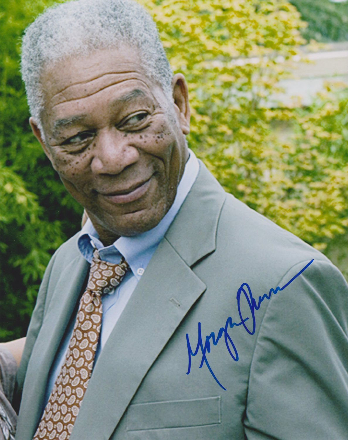 Morgan Freeman Original Hand Signed 8x10 Autographed Photo