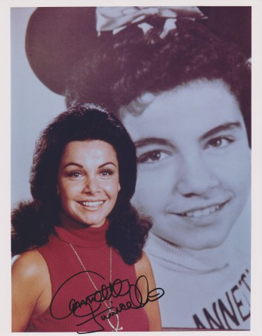 Annette Funicello Original Hand Signed 8x10 Autographed Photo Mickey Mouse Club
