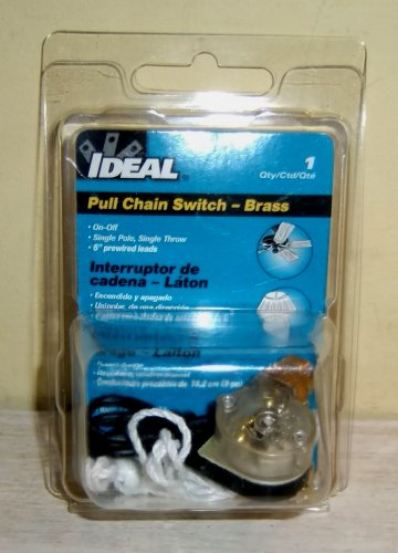 PULL CHAIN SWITCH Brass Ideal Ceiling Fan New