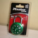 MASTER Combination LOCK Padlock Rotary Dial GREEN  1529DTGT
