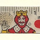 "BURGER KING Magic 7"" Ruler Flicker Vintage 1980 Fast Food Hamburger Restaurant"