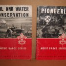 Boy Scouts Manuals 1961 Pioneering 1962 Soil Water Conservation Merit Badge lo