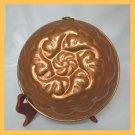 Vintage Copper Floral Motif Rolled Edges Mould Mold FS