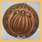 Vintage Copper Ladyfingers Hand Hammered Squash Motif