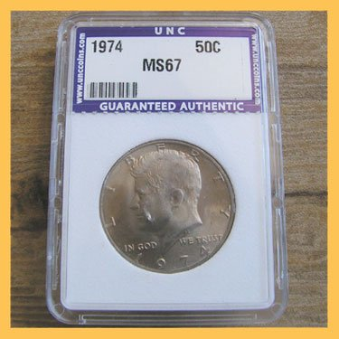 1974 Kennedy Half Dollar Coin 50c Halves Uncertified