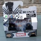 Mini Mates 2 Pack MARVEL The Wolverine Suit & Black Clan Ninja New Box FREE Ship
