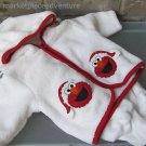 Baby Elmo World Sesame Street White Red 2 Pc Outfit Hoodie Santa Pockets 3M EUC
