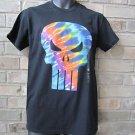 Marvel Comics Punisher Black Men's T-Shirt Small S TIE DYE SKULL FREE Ship NWT