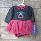 Cherokee Santa Rocks Pink & Gray One Piece w/ Tutu Christmas 3 Months FREE Ship!