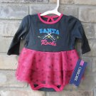 Cherokee Santa Rocks Pink & Gray One Piece w/ Tutu Christmas Newborn FREE Ship!