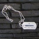 Dog Tags Ball Chain Necklace Come and Take It Gonzales Flag Steel Matte Etched