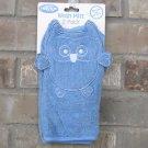 Playgro Owl Baby Blue White Play Gro Wash Mitt Cloth 2 Pack New FREE Ship NIP