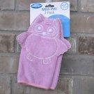 Playgro Owl Pink White Play Gro Baby Wash Mitt Cloth 2 Pack New FREE Ship NIP