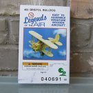 Legends of the Air #403 Bristol Bulldog Wooden Aircraft Model Kit Sealed Box