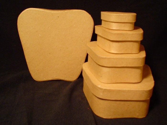 Apple Shaped Paper Mache Boxes