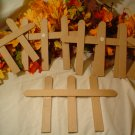 PAPER MACHE FENCE SECTIONS