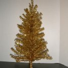 Gold Tinsel 18 Inch Christmas Tree