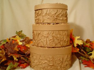 CAKE LIKE PAPER MACHE BOXES-CRAFT SUPPLIES
