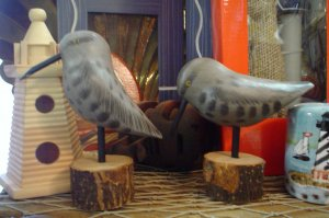 WOODEN NAUTICAL SANDPIPERS- NAUTICAL PAINTED PRIMITIVES