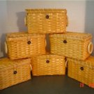 6 RECTANGLE SHAPED BUTTON CLOSURE GIFT BASKETS