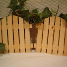 UNFINISHED WOOD GATE~READY TO PAINT