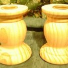 TWO WOODEN URN SHAPED CANDLE HOLDERS~READY TO PAINT