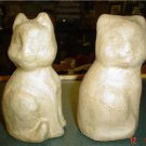 PAPER MACHE CATS~READY TO PAINT