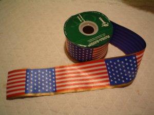 50 FOOT ROLL AMERICAN FLAG RIBBON
