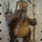 Primitive Bear Lodge Ornament -  Basket & Staff with Pine Cone