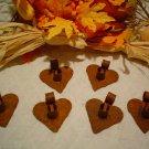 Primitive  Rusty Metal Heart Candle Holders - Six