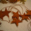 6 FT. RUSTY STAR GARLAND~RUSTIC PRIMITIVE DECOR