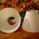 (2) TRANSLUCENT LAMP SHADES- COMPLETE~READY TO PAINT