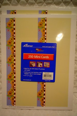 500 Business Cards~Price Tags~Sunflower Print
