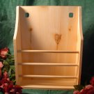 UNFINISHED WOODEN DOWELED WALL RACK~READY TO PAINT