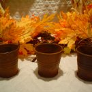 SIX SMALL PRIMITIVE RUSTY PALES/BUCKETS
