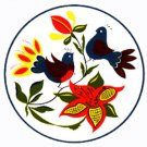Morning Birds Hex Sign - 8 Inch