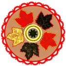 Maple Leaf  Hex Sign - 8 Inch