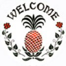 Pineapple Welcome Hex Sign - 8 Inch