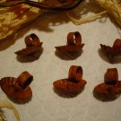 Rusty Primitive Round Candle Clips for Wreaths - One Dozen