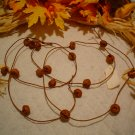 6 FT. PRIMITIVE RUSTY JINGLE BELL GARLAND~RUSTIC