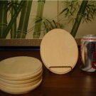 (4) WOODEN OVAL ECONOMY PLAQUES~UNFINISHED WOOD CRAFTS